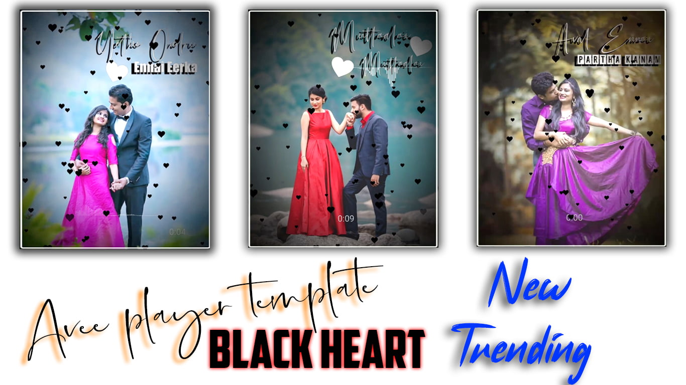 Black Heart Avee Player Template | Awesome Avee Player Black Screen Template | Tamil vra Tech