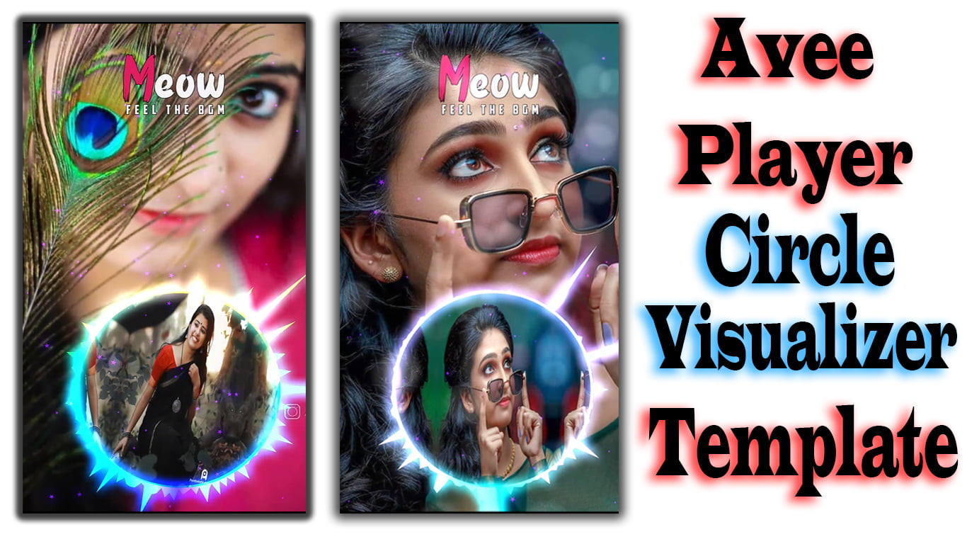 Circle Visualizer with Beat Effect | Avee player template | New Avee Player Template Download | Tamil Vra Tech