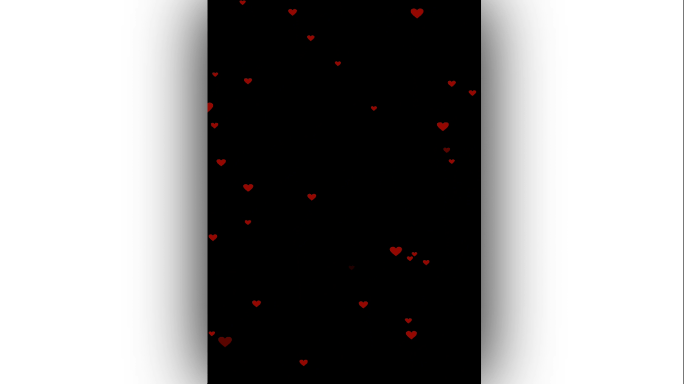 Red Heart Particels black screen template | avee Player Template | Template World