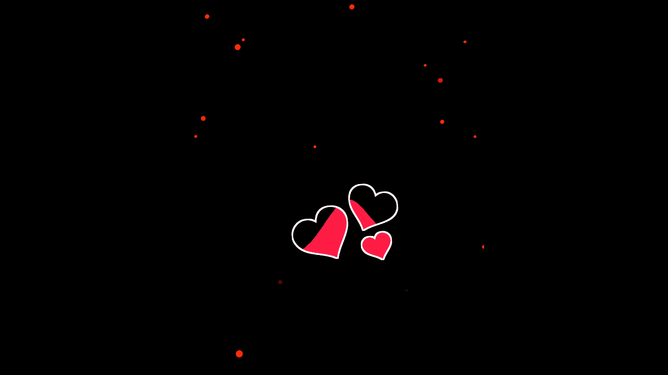 Heart Red visualizer black screen template | Kinemaster template | green screen te mplate
