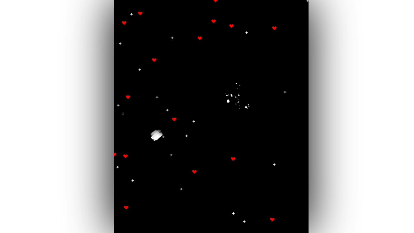 Red Heart Particels black screen template   Template World