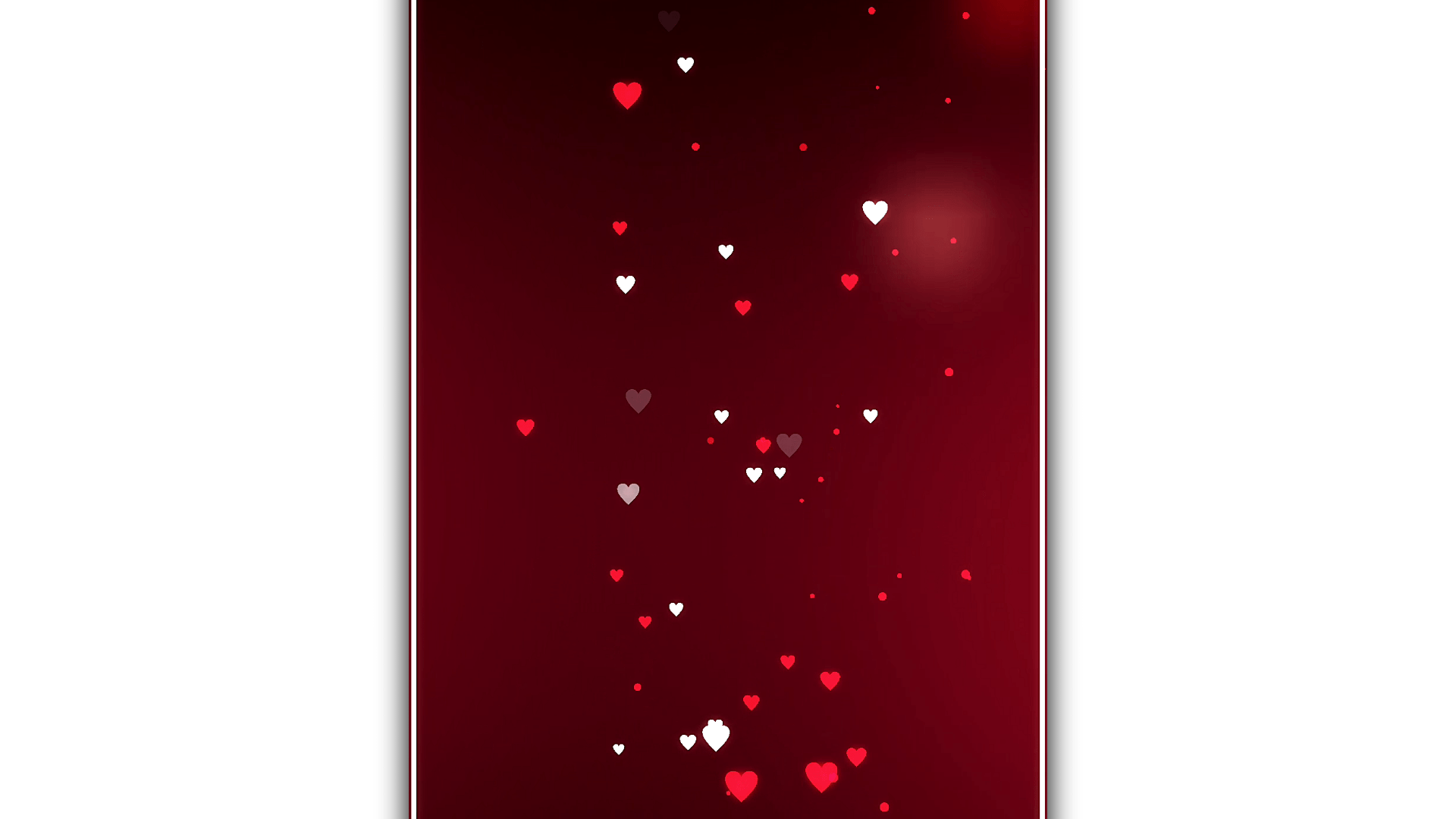 Red and White heart black screen template | Black screen Template | Green screen | Template World