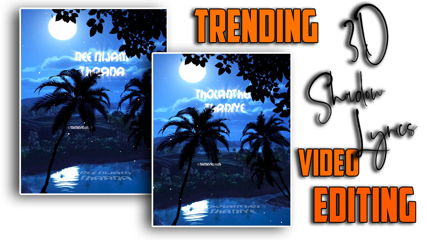 3D Shadow Lyrical Animation in Alight Motion tutorial   Alight motion tutorial Tamil