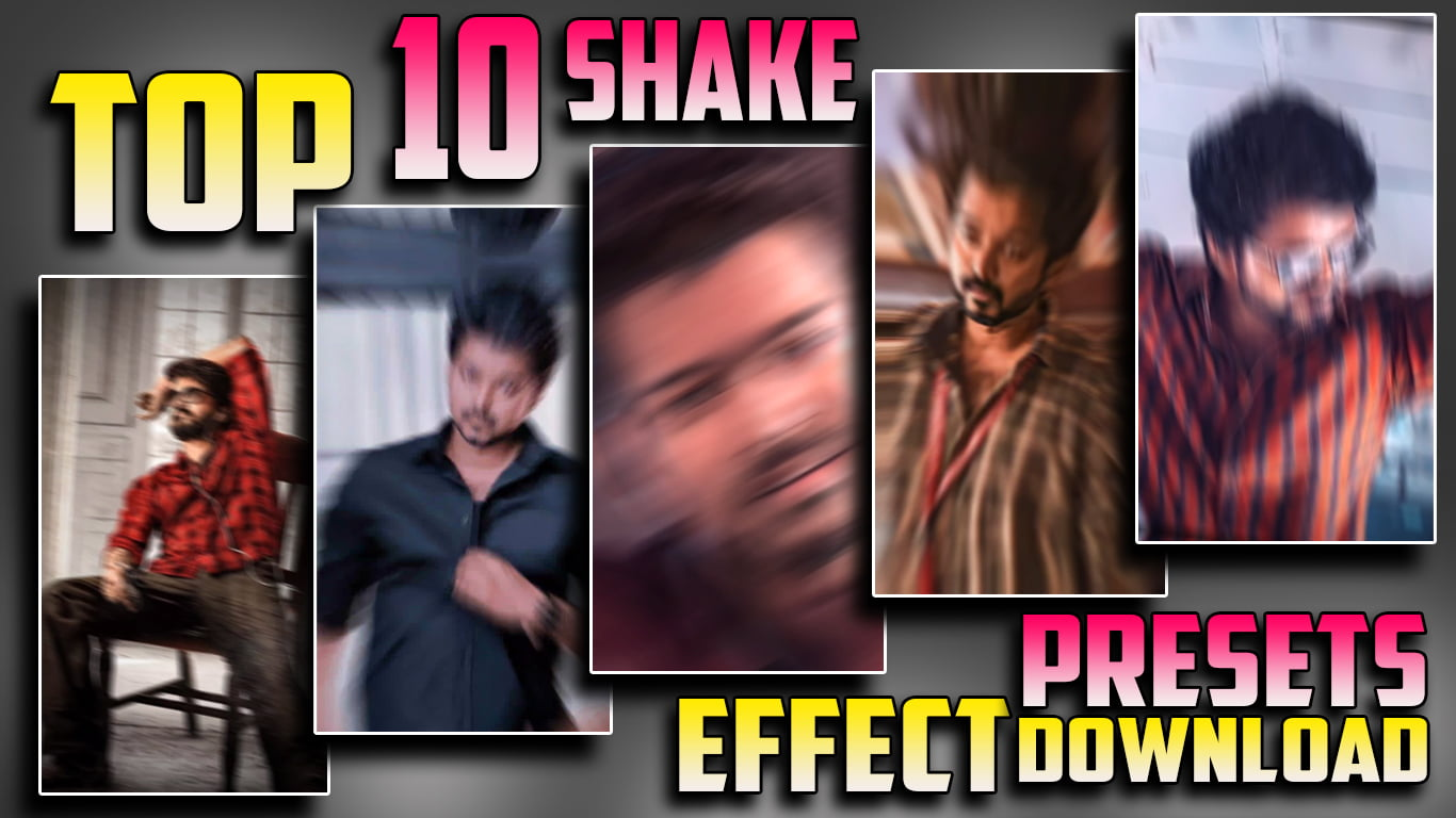 Top 10 Photo Shake Effects animation presets Video #1003 | Alight motion shake effect Presets link